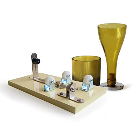 Cortador de cristal para botellas de vino de cerveza, cortador de tarros, escultura de