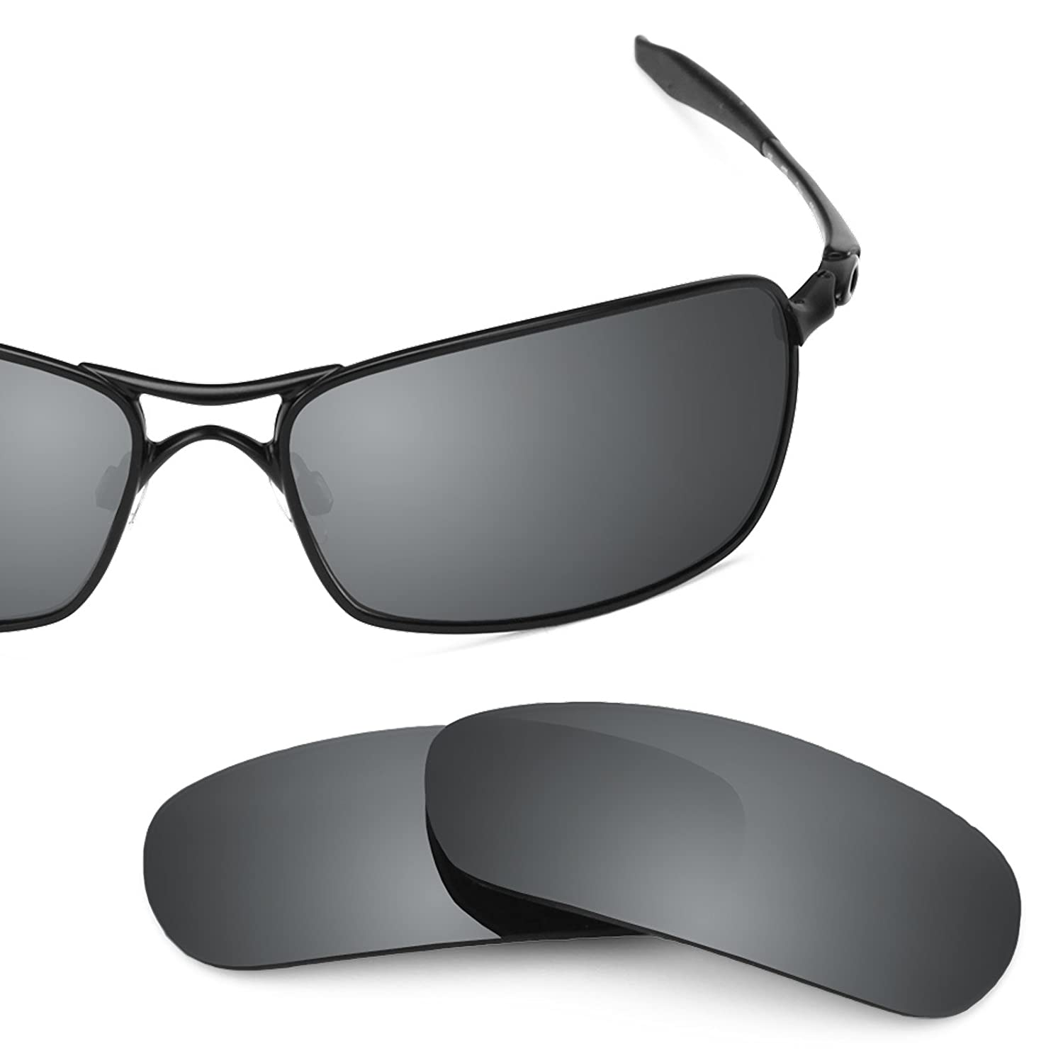 e14bdc33a3 Amazon.com  Revant Polarized Replacement Lenses for Oakley Crosshair 2.0  Elite Black Chrome MirrorShield  Sports   Outdoors