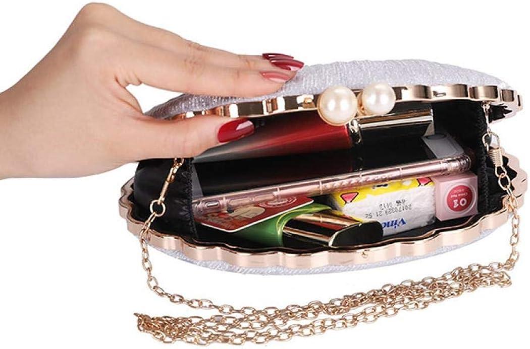 t/él/éphone portable f/ête Kwolf Sac de soir/ée tendance en forme de coquillage porte-monnaie pour femme pochette pour femme pour mariage