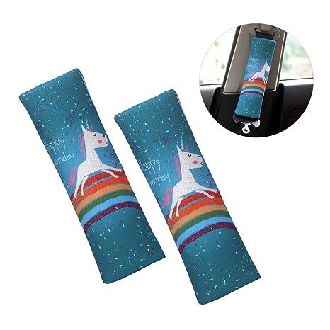 2 pcs Licorne voiture sécurité tapis d épaule de ceinture - Cartoon Design  confort ceinture 4570000c339