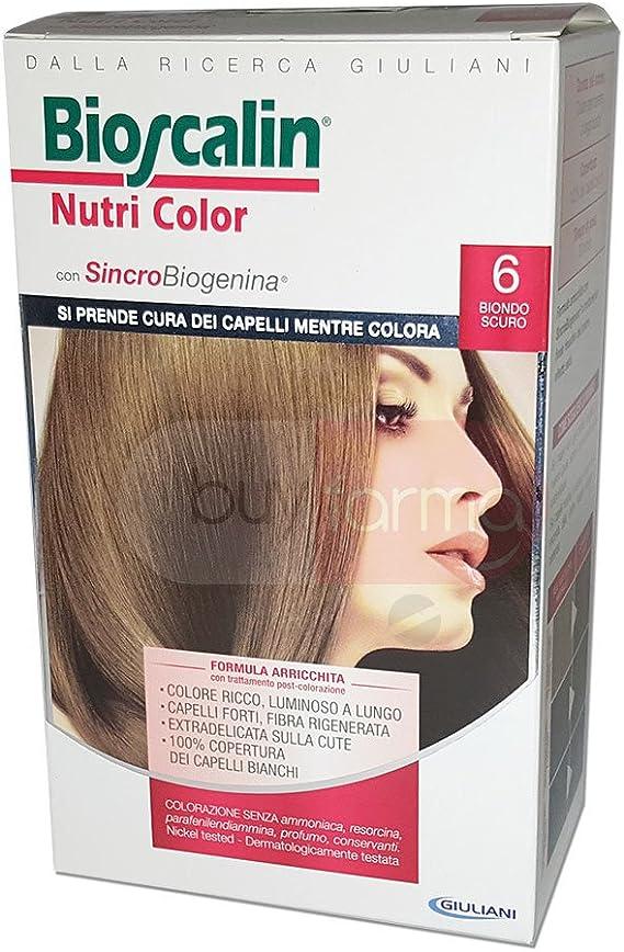 Bioscalin Nutri Color Colorazione Permanente Senza Ammoniaca 6 Biondo Scuro
