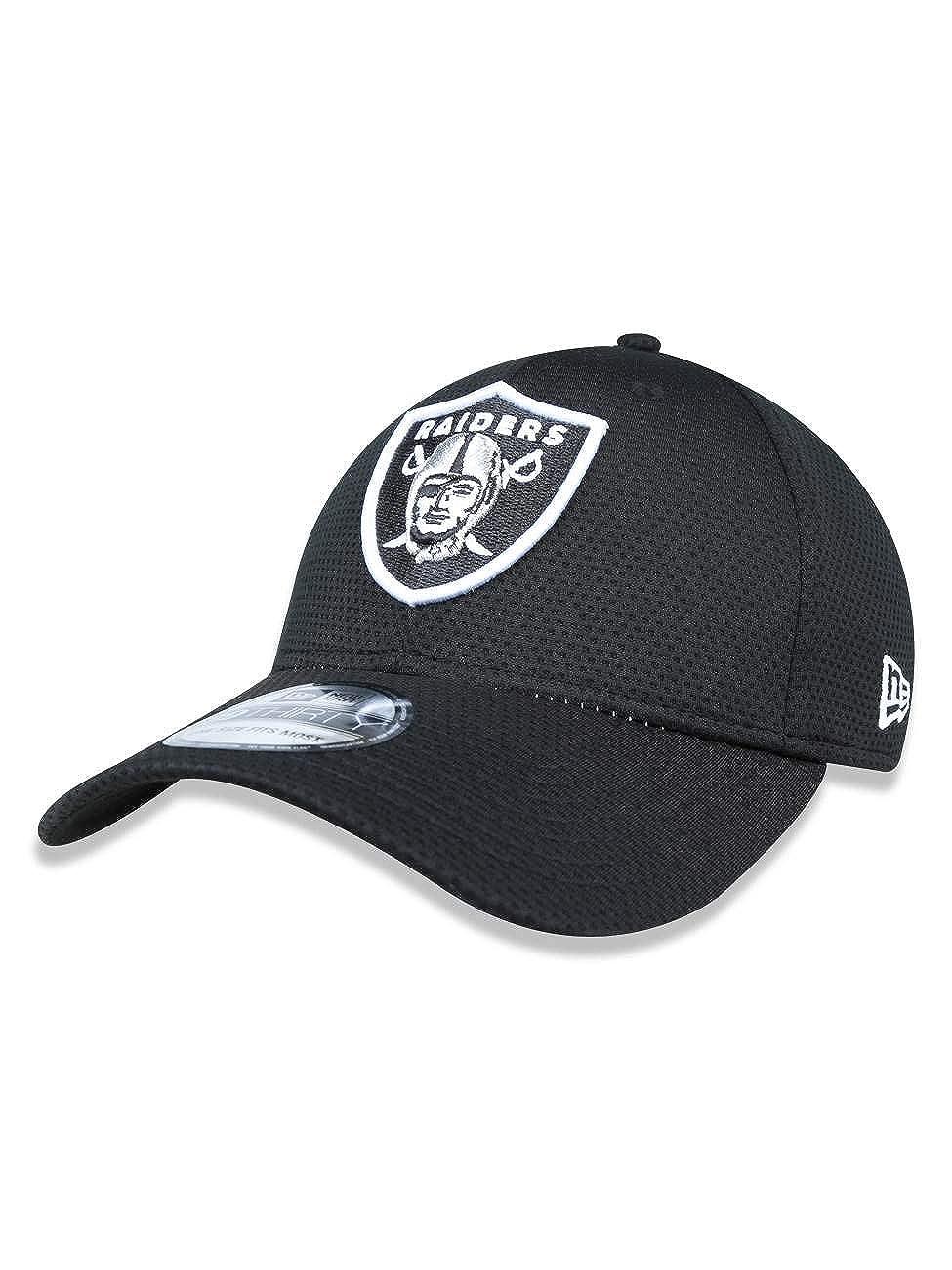 New Era 39thirty Hatのオークランドレイダーズ2016 NFLサイドラインのフィールドブラックキャップ XL  B01LFR1PJ6
