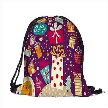 Amazon.com | Drawstring Sacks Bundle Pocket Bag for Kids Merry ...
