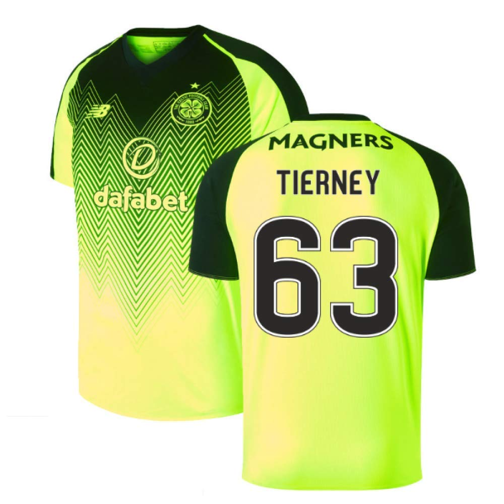2018-2019 Celtic Third Football Soccer T-Shirt Trikot (Kieran Tierney 63)