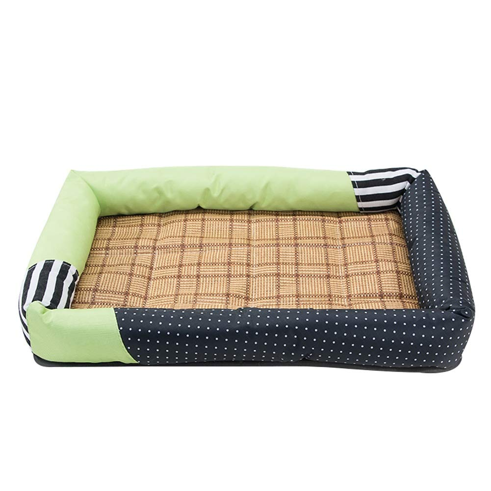 LLAGC2 S(66×46×8cm 10kg) LLAGC2 S(66×46×8cm 10kg) Dog Bed, Soft Luxurious and Comfortable Cat with Anti Slip Base, for All Pet, Living Room and Hallway (color   LLAGC2, Size   S(66×46×8cm 10kg))