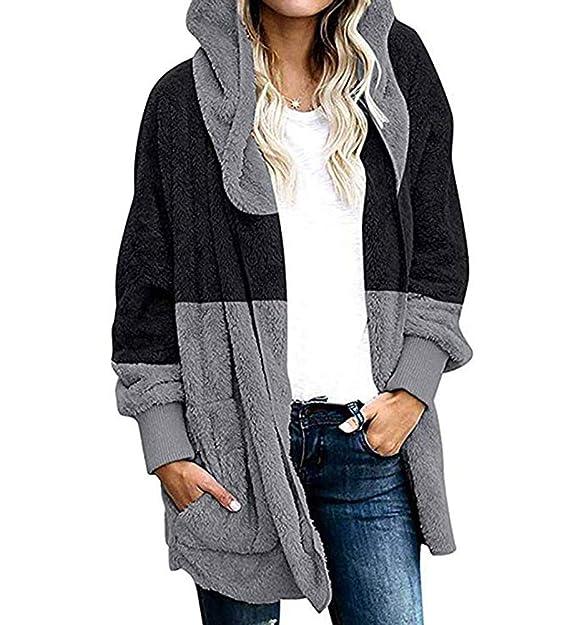 Amazon.com: SEBOWEL - Chaqueta de invierno con capucha para ...