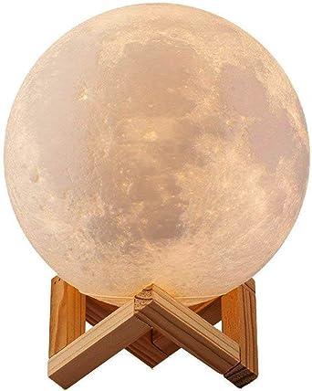 3D Lámpara Mágica de la Luna LED Lámpara de Noche Luna Llena ...
