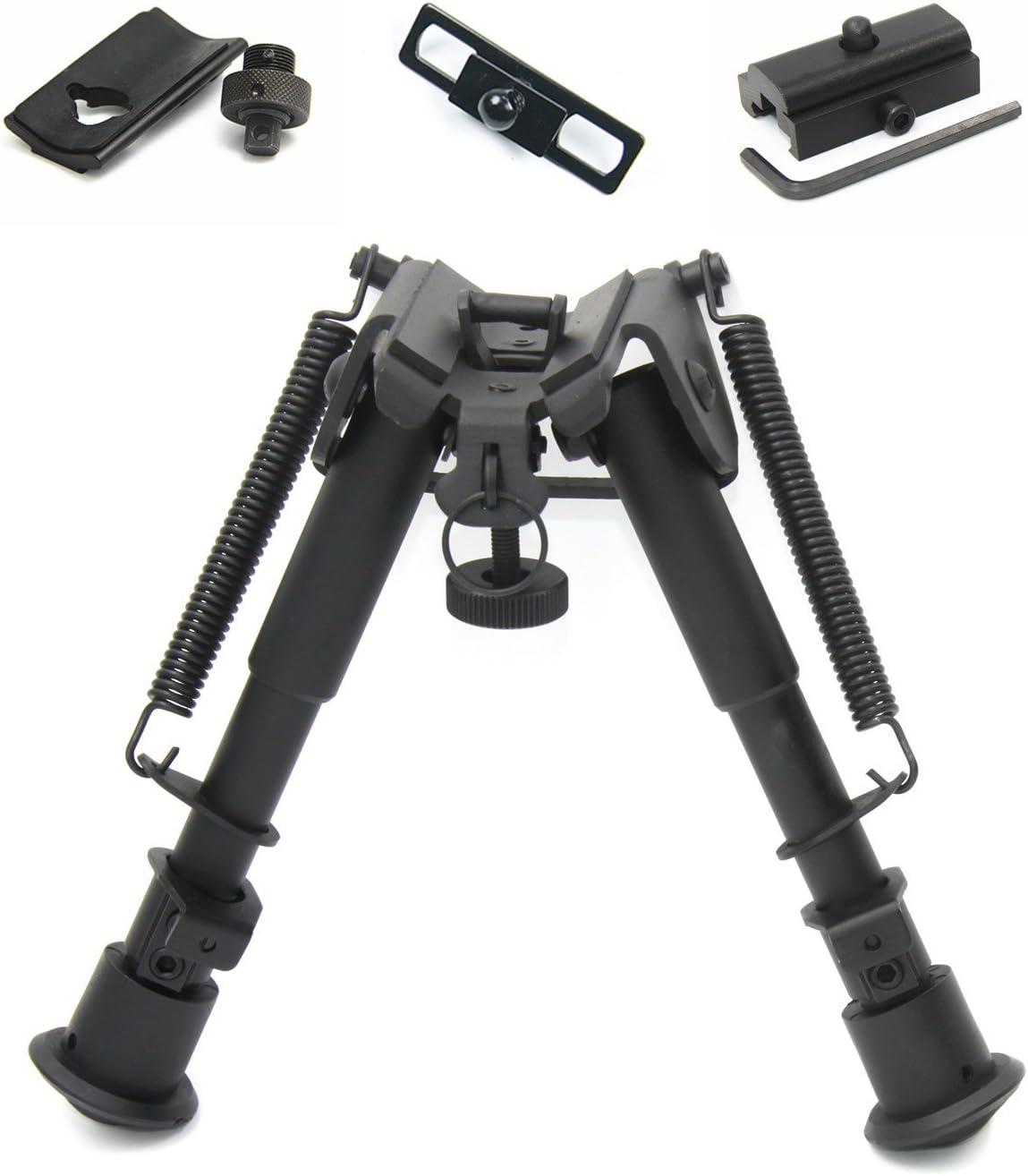 JINSE Tactical Bipod Support /à Deux Pieds R/églable DE 6,5 /à 9 Pouces Rouge