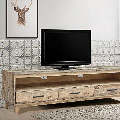 Rústico sólido moderno de madera reciclada antiguo hecho a mano de TV Soporte: Amazon.es: Electrónica