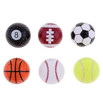 Toygogo 6PCs Novedad Deportes Pelotas De Golf Baloncesto ...