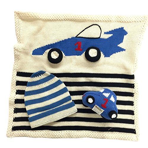 Estella gift-car Hand Knit Car Organic Cotton Newborn Baby Gift Set by Estella