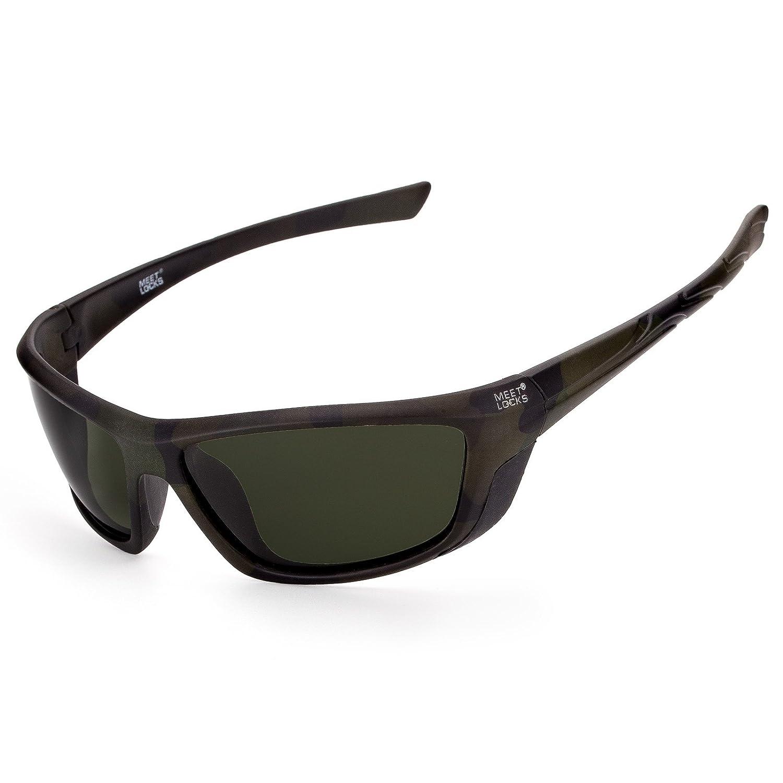 Meetlocks Polarizadas gafas de sol deportivas, marco de la PC, protección UV 100%, para todos los deportes al aire libre