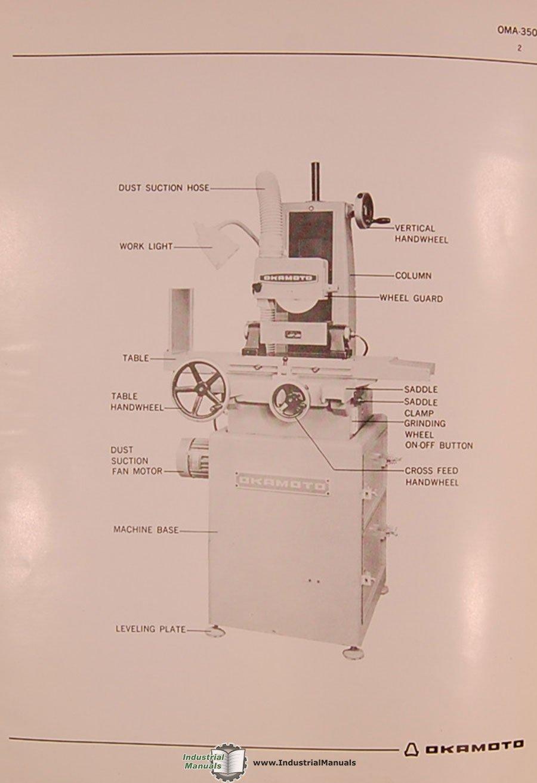 Okamoto Micro Ace, OMA-350, Surface Grinding Machine ... on
