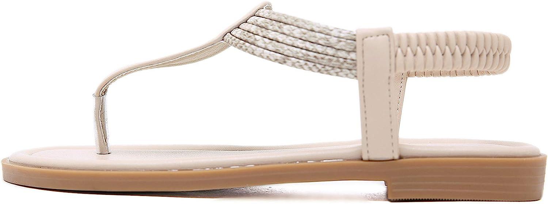 GAXmi Women Summer Flat Sandals Toe Beach Clip Non-Slip Sandals