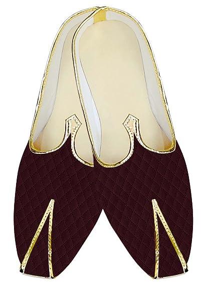 Mens Burgundy Designer Velvet Wedding Shoes MJ15537