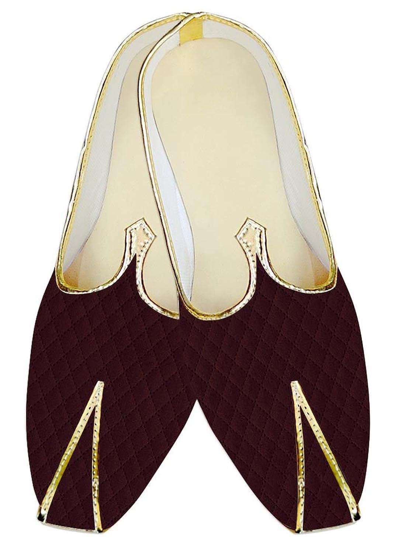 INMONARCH Diseñador de Borgoña Hombres Boda Zapatos Terciopelo MJ15537 37.5 EU