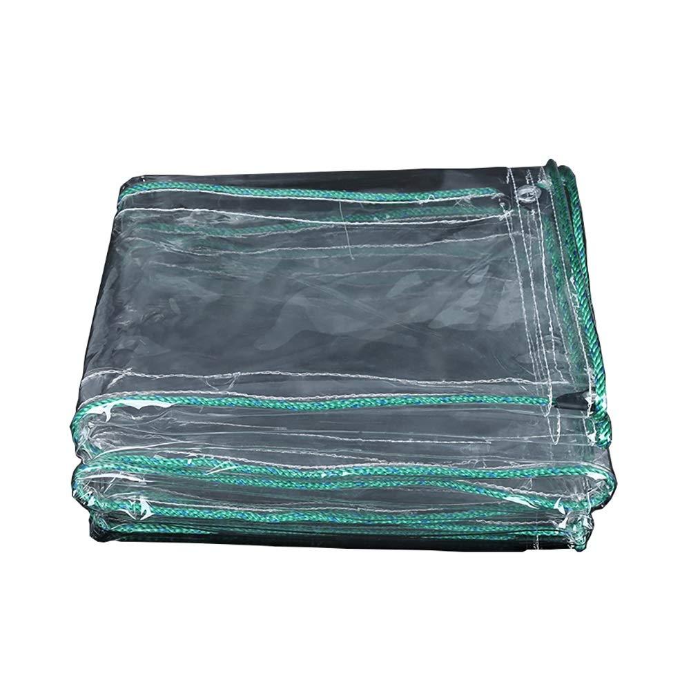 1.8×4M  GZW001 Tissu antipluie, Toile Transparente BÂches Toile Transparente Balcon Rideau de Prougeection Solaire Tissu PVC épaississant Tissu en Plastique