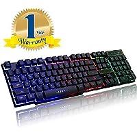 Brand Conquer Rainbow LED Backlit 19 Key Anti-Ghosting USB Wired Mechanical Feel Multimedia Gaming Keyboard