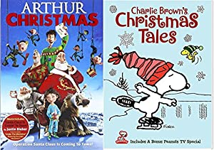 Charlie Brown's Christmas Tales Cartoon DVD & Arthur Christmas Operation Santa Clause Holiday Movie Set by Fox Home Entertainment