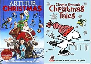 Charlie Brown's Christmas Tales Cartoon DVD & Arthur Christmas Operation Santa Clause Holiday Movie Set by Fox Home Entertainment