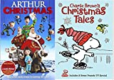 Charlie Brown's Christmas Tales Cartoon DVD & Arthur Christmas Operation Santa Clause Holiday Movie Set