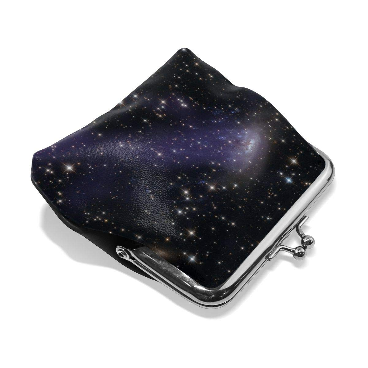 Poream Galaxy Gas Stream Constellations Stars Hubble Personalized Retro Leather Cute Classic Floral Coin Purse Clutch Pouch Wallet For Girls And Womens
