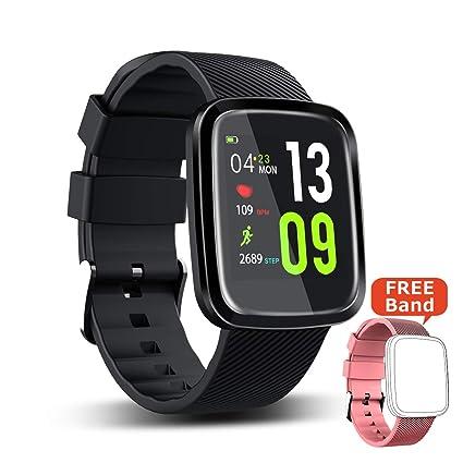 SUPTEMPO Pulsera Actividad ,Pulsera de Actividad Inteligente Toque Completo Pantalla Color Reloj de 1.3 Pulgadas