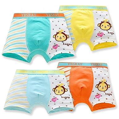 f38e7443ac9b Amazon.com: DVANIS Little Boys Girls Kids 4 Pcs Comfortable Cute Monkey  Knickers Boyshort Underwear Boxers Briefs Panties: Clothing