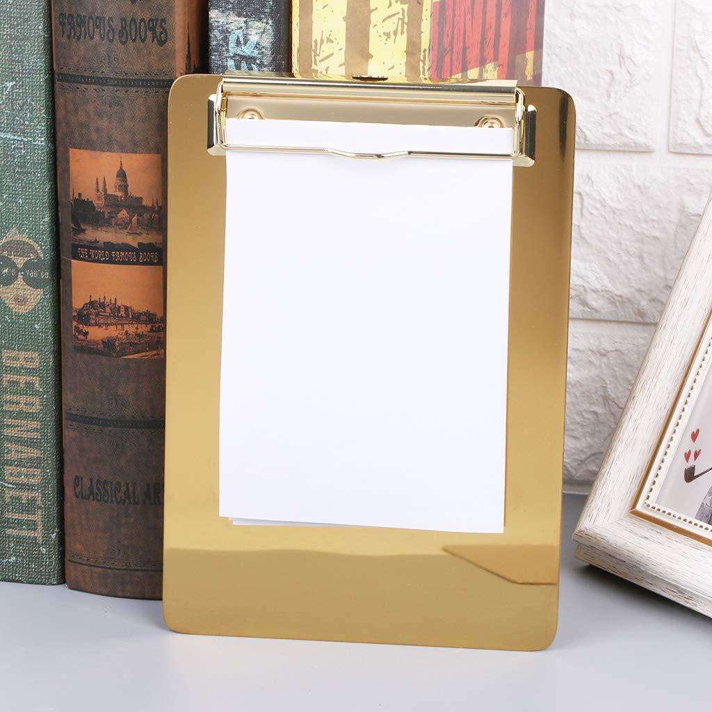 B/üro Schule Metall-Klemmbrett Schreibwaren Ordner Schreibtisch-Aufbewahrung Dokumentenhalter Zubeh/ör in 3 Gr/ö/ßen Large Random Delivery Schreibblock