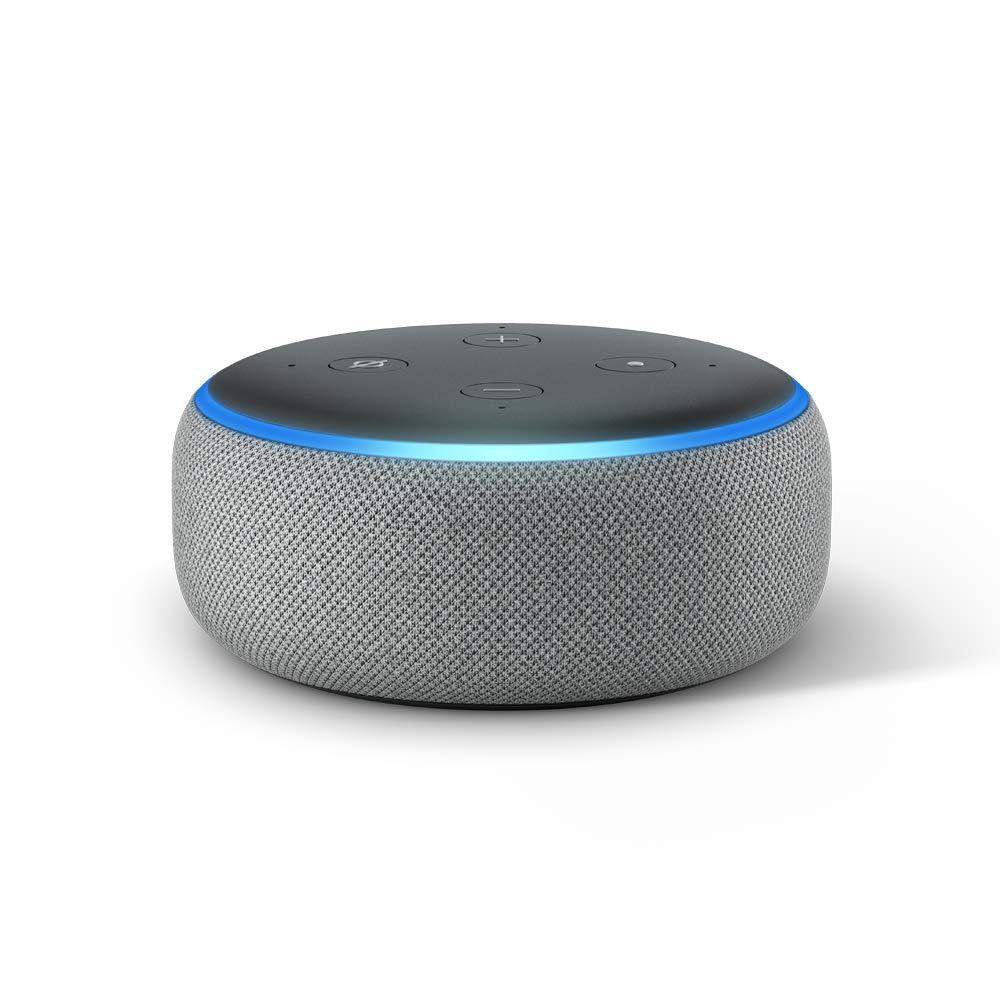 Echo Dot (3rd Gen) - Smart speaker with Alexa - Heather Gray by Amazon
