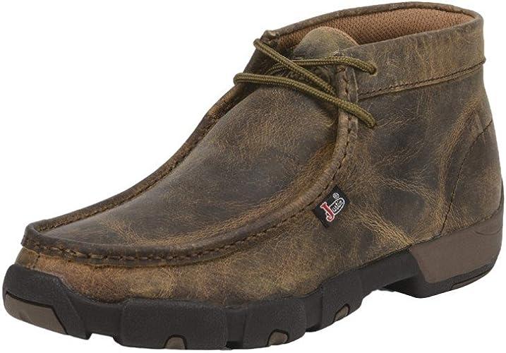Casual Moc Toe Chukka Boots Dark Brown