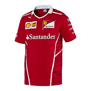 6df084f7913281 Image Unavailable. Image not available for. Colour: Ferrari F1 Racing  Replica SF Puma Raikkonen Team T-shirt Red Official 2017
