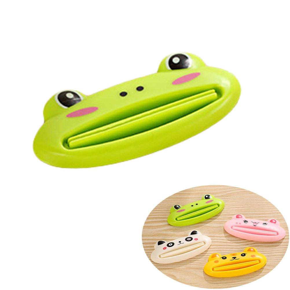 BESTOMZ Tubo de pasta de dientes de animales de dibujos animados lindo Exprimidores de tubo Clip dispensador de rollo (Patrón aleatorio): Amazon.es: Hogar