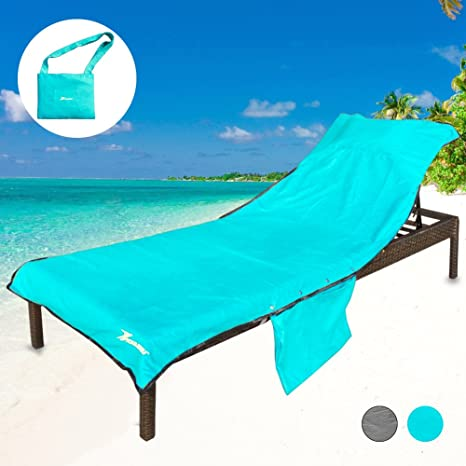 Amazon.com : YOULERBU Thickened Beach Chair Cover Towel, Swimming ...