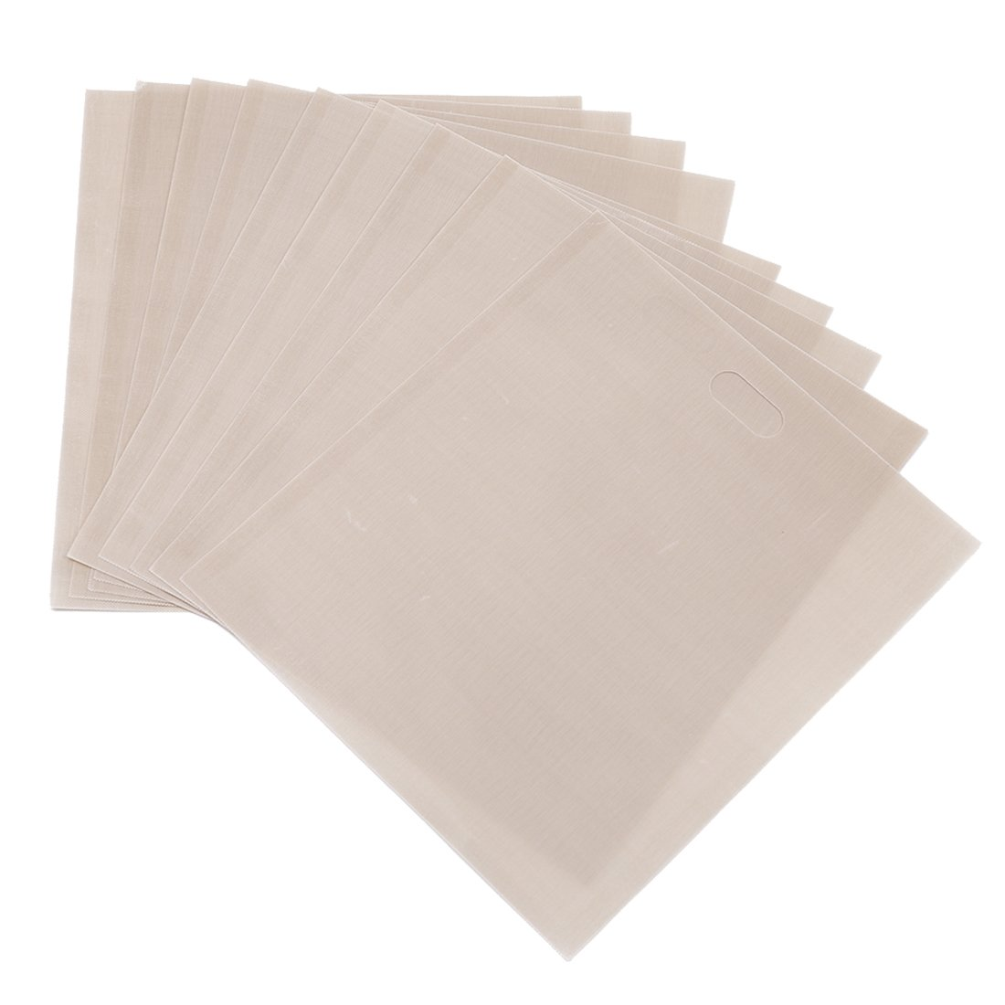 Tosnail 10 Pack Non Stick Reusable Toaster Bags - Beige