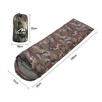 FYX Saco de Dormir Bolsa del Camuflaje por Temporada -10o, 210cm x 75cm para