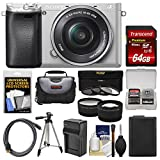 Sony Alpha A6300 4K Wi-Fi Digital Camera & 16-50mm Lens (Silver) with 64GB Card + Case + Battery & Charger + Tripod + 3 Filters + Kit Review