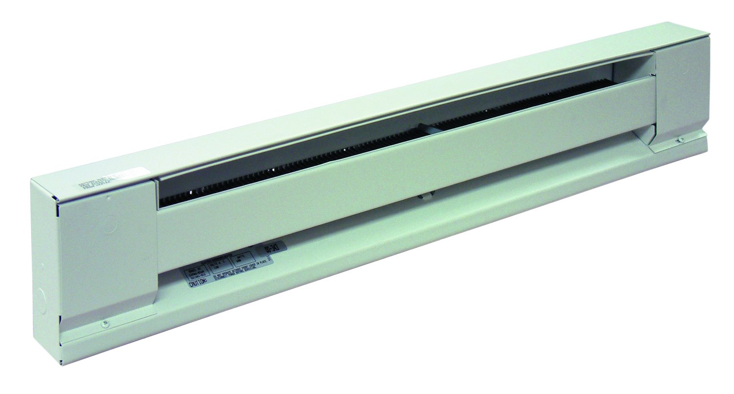 TPI G2907048SW 2900S Series Electric Baseboard - Stainless Steel Element Convection Heater, Single Phase, 277 V, Electric Fuel Type, White