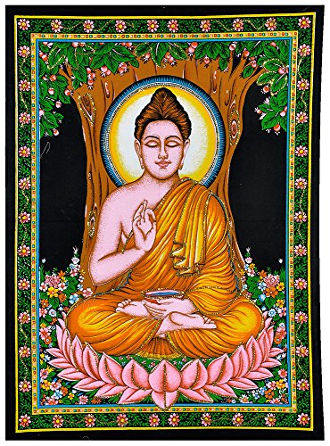 gangesindia-lord-buddha-seated-under-bodhi-tree-print-on-cloth