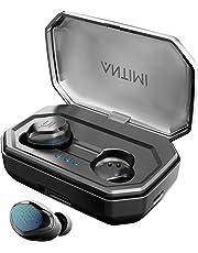 【Neuestes Modell】Antimi Bluetooth Kopfhörer In Ear Ohrhörer Kabellos Noise Cancelling Kopfhörer Sport Wireless Bluetooth 5.0 Headset mit 120 Stunden Spielzeit/IPX7/Mikrofon für iPhone Android Samsung