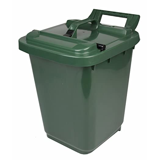 kerbside compost caddy with locking lid green for food waste recycling 23 litre