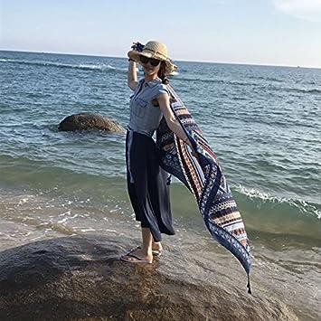 YRXDD Sr. Ronald, sunscreen mantón, toalla de playa extra grandes máscaras de doble uso en el pañuelo de seda salvaje,rectangular rojo, azul: Amazon.es: ...