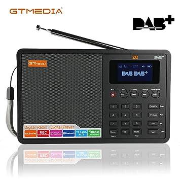 Dab Radio Empfang Karte.Tragbar Dab Dab Ukw Radio Digital Fm Rds Bluetooth Stereo Lautsprecher Wecker Sleep Timer Tf Karte Usb Aufladen Aux In Mit 1 8 Lcd Display