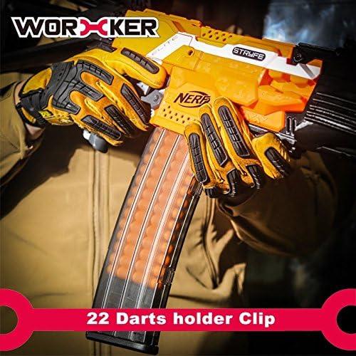 Worker Mod 22 Darts Magazine Quick Reload Clip for Nerf N-strike Elite Color Clear