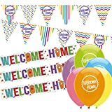 NEW Welcome Home Decorations Pack: Welcome Home Bunting, Welcome Home Banners and Balloons