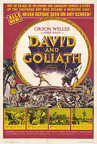 David and Goliath 1961 Movie Poster - Style A