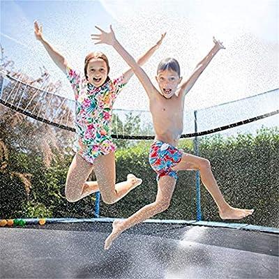 cobcob Waterpark Sprinkler,Outdoor Trampoline Water Sprinkler Sprinkler Hose for Kids Trampoline Outdoor Water Toys Waterpark Summer Fun Outdoor Toys - Easy to Control (B): Garden & Outdoor
