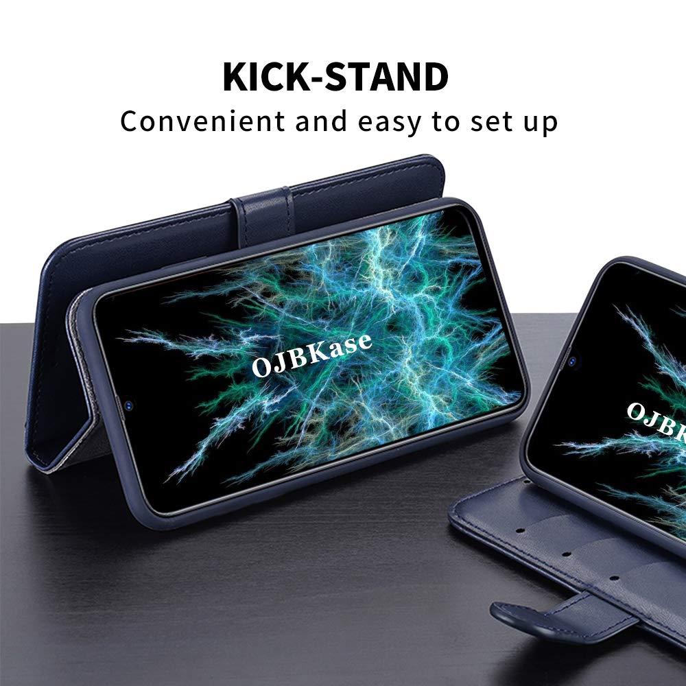 OJBKase Coque Compatible avec Galaxy A10 Housse Etui en Cuir PU Premium Portefeuille et Magn/étique Coque de Maintien en TPU Protection pour Samsung Galaxy A10 M10 Noir M10