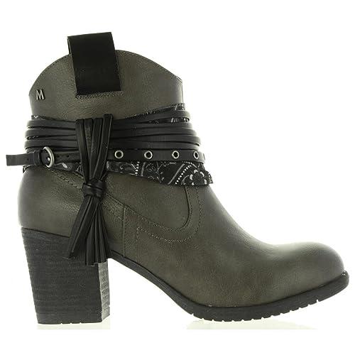 MARIA MARE Botines de Mujer 61137 C21043 Rustico Gris Talla 41: Amazon.es: Zapatos y complementos