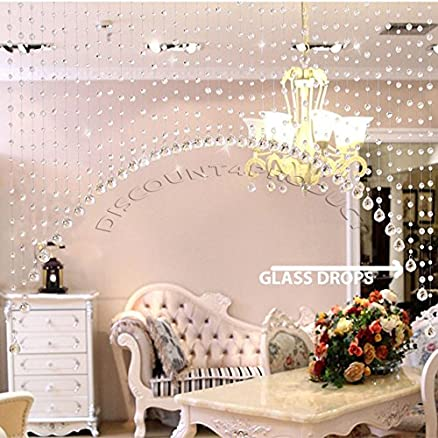 Buy discount4product 30 strings crystal strings bead hanging discount4product 30 strings crystal strings bead hanging curtain glass drops curtain partition spaces wedding decoration home junglespirit Images